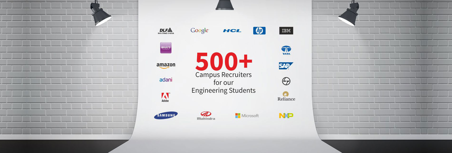 500+ campus recruiters for our engineering students