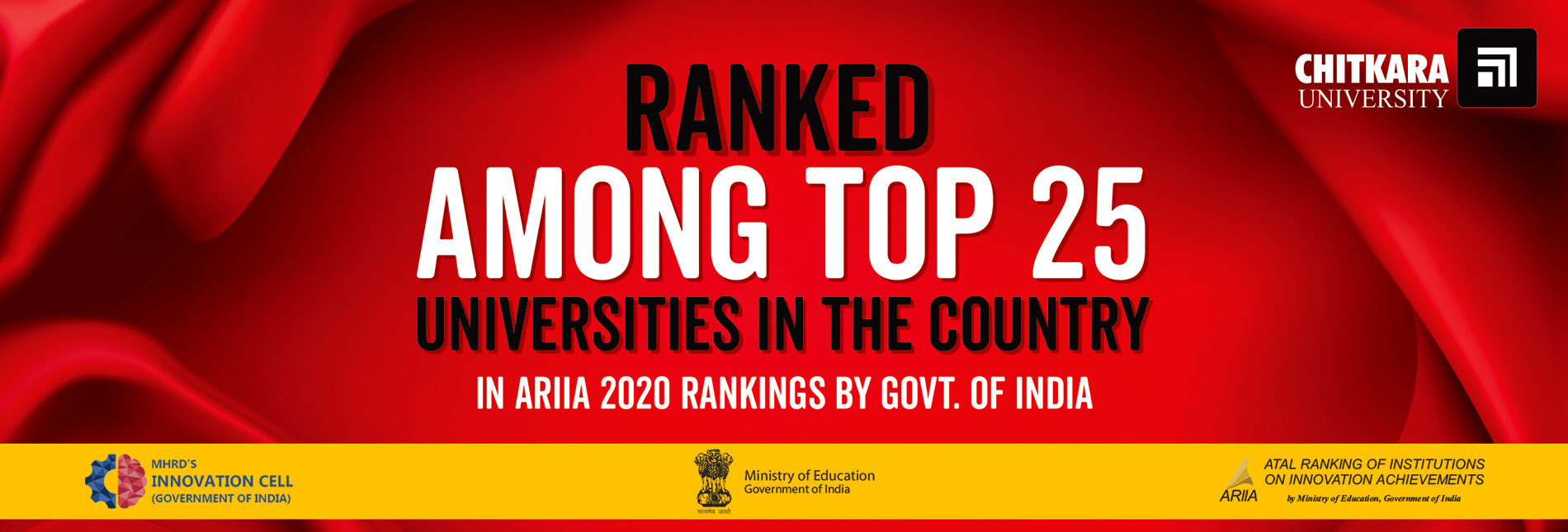 ARIIA 2020 Ranking by govt. of india