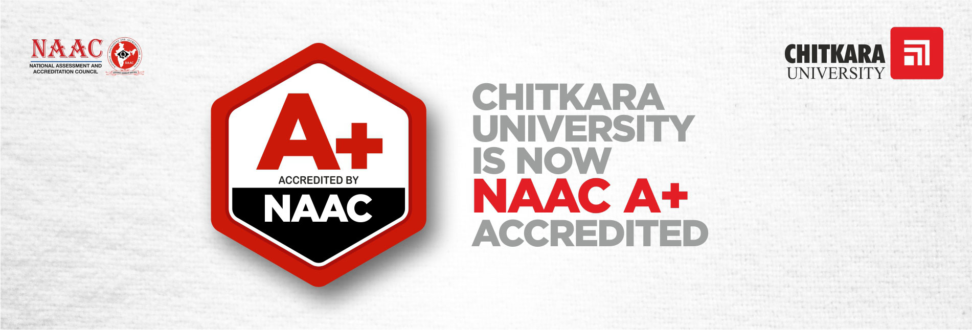 Chitkara University is now NAAC A+ Accredited