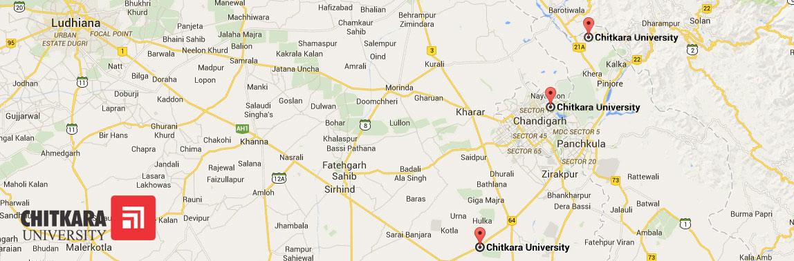 chitkara-university-map