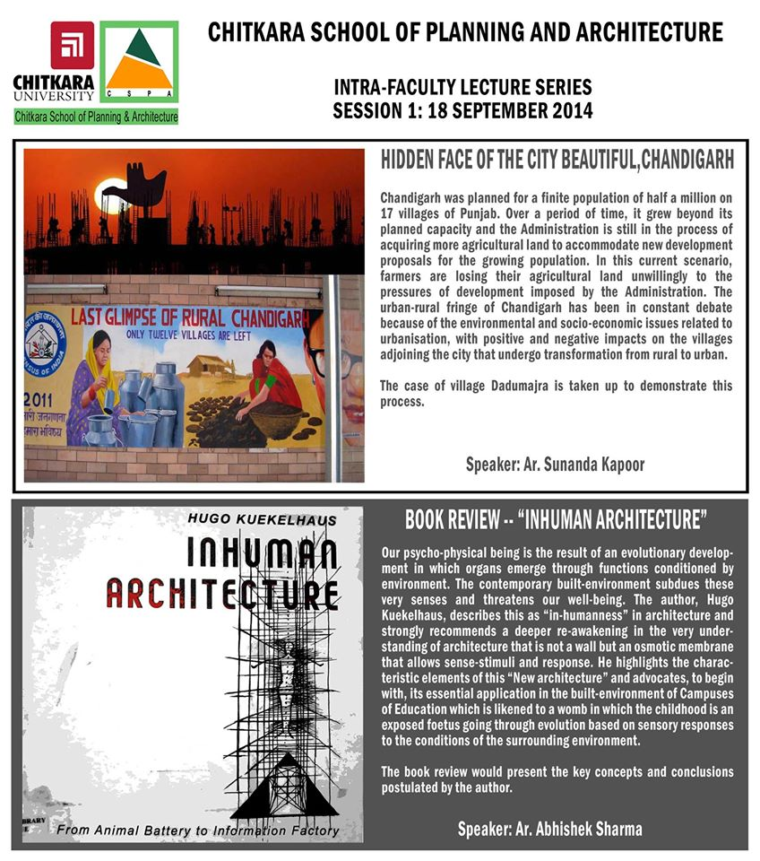 Intra-faculty lecture series by CSPA -