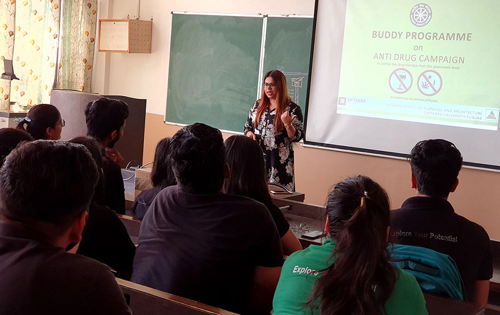 Buddy Program on Anti Drugs Campaign: CSPA students hold an