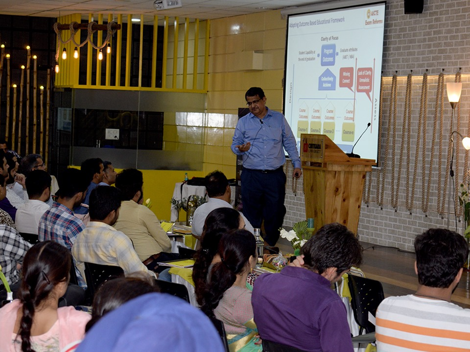 Workshop on Examination Reforms Organised by AICTE Chitkara