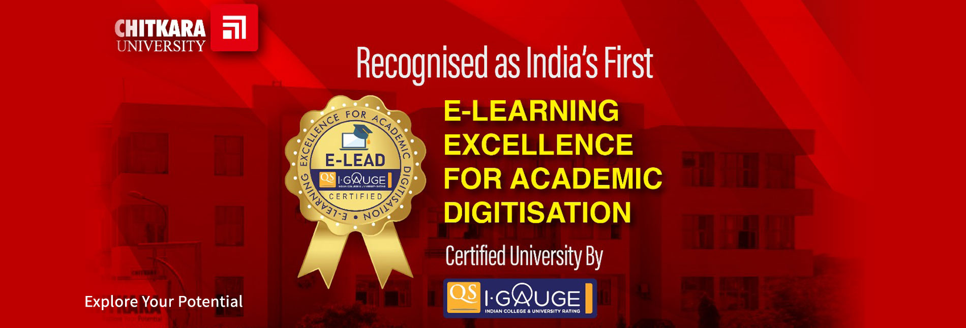 Quacquarelli Symonds recognises Chitkara University as first Indian University for E-Learning Excellence (E-Lead) Certification